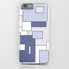 Squares -  gray, blue and white. iPhone 6s Slim Case