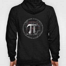 Pi Sign Drawing White Version Hoody