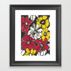 Fleur With Yellow Framed Art Print