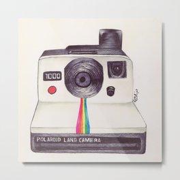 Ballpoint Pen Polaroid Metal Print