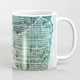 Seattle Washington Street Map Coffee Mug