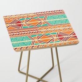 Tribal ethnic geometric pattern 027 Side Table