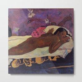 The Spirit of the Dead Keeps Watch - Paul Gauguin Metal Print