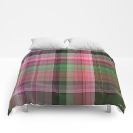 Pink Roses in Anzures 4 Plaid 1 Comforters