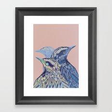 Digital Watercolor Birds Framed Art Print