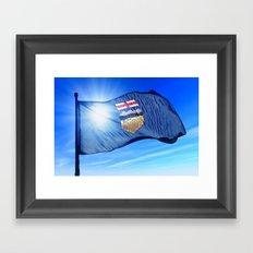 Alberta (Canada) flag waving on the wind Framed Art Print
