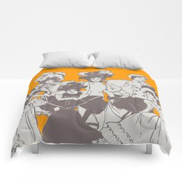 Vintage Ladies APRICOT / Vintage illustration redrawn and repurposed Comforters