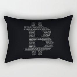 Bitcoin Binary Black Rectangular Pillow