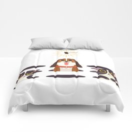 Cute Cats Dogs on Sunny Day Comforters
