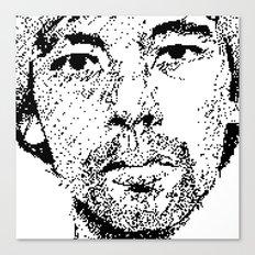 Pixel Portrait : Onra Canvas Print