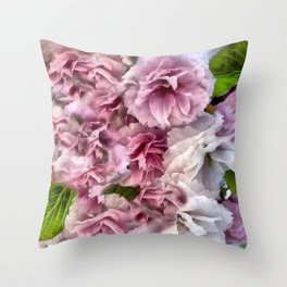 Cherry Blossom Burst Throw Pillow
