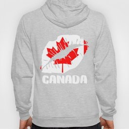 CAN Canada Kiss Lips T Shirt Hoody