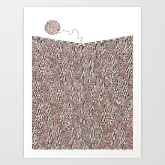 Knitting experience Art Print