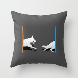 Portal Dog Throw Pillow