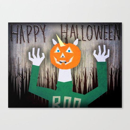 Happy Halloween Unicorn Canvas Print
