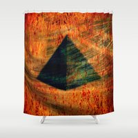 egyptian Shower Curtains featuring Egyptian wind by  Agostino Lo Coco