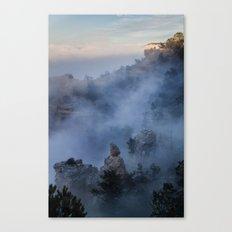 Grand Canyon Fog Canvas Print