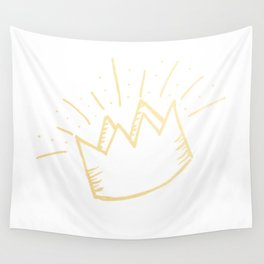 proud crown (gold) Wall Tapestry