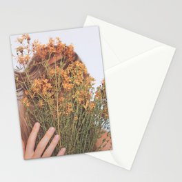 Connect; Woman with Plants; Feminine Energy Stationery Cards