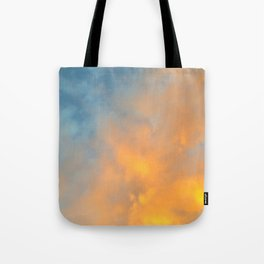 Golden Blue Sky Tote Bag