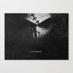 Monster.Scratch. Canvas Print