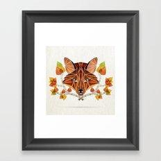 fox autumn Framed Art Print