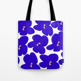 Blue Retro Flowers #decor #society6 #buyart Tote Bag