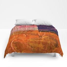 THIRD GRADE SELF PORTRAIT Comforters