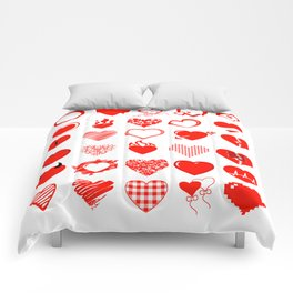 Heart and love Comforters