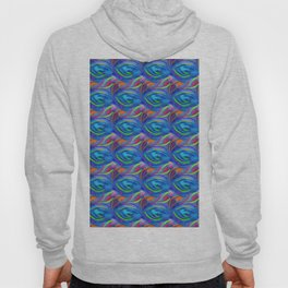 Colorful  blue scales Hoody