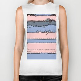 Pantone Colour of the Year 2016 Rose Quartz/ Serenity, Fractured Biker Tank