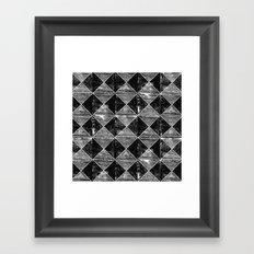 Chequers I Black Framed Art Print
