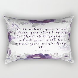 What You Read Rectangular Pillow
