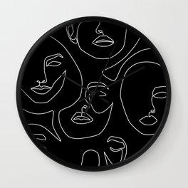 Faces in Dark Wall Clock