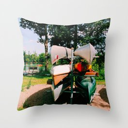 Waiting for the ride Throw Pillow