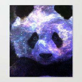 Galaxy Panda Space Colorful Canvas Print