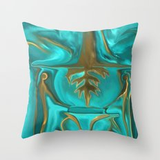 The Midas Touch by Sherri Of Palm Springs Throw Pillow