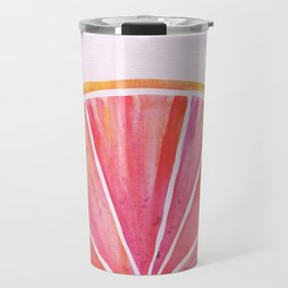 Sunny Grapefruit Watercolor Travel Mug