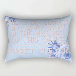 Respect the Cubicle Funny Office Saying Rectangular Pillow