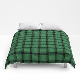 Dark Green Weave Comforters