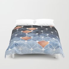 Copper Diamonds Duvet Cover