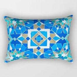 Moroccan Tile - Zellige - Cobalt Rectangular Pillow