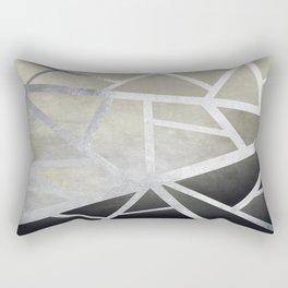 Textured Metal Geometric Gradient With Silver Rectangular Pillow