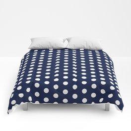 Navy Blue Polka Dot Comforters