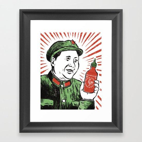 Mao Sauce Framed Art Print