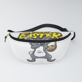Dabbing Bunny Easter Gift for boys and girls design Fanny Pack