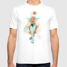Autumn MEDIUM Mens Fitted Tee White