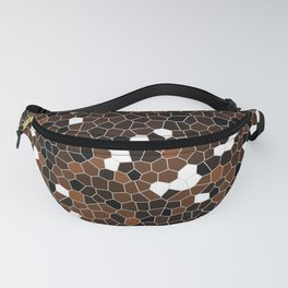 Chocolate Brown Polycamo Fanny Pack