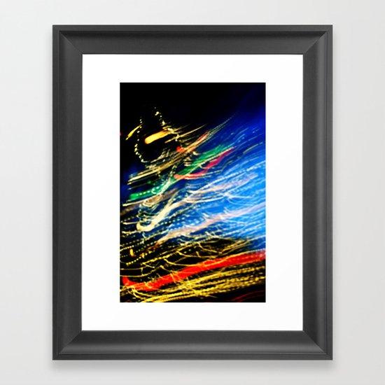Christmas flying by Framed Art Print