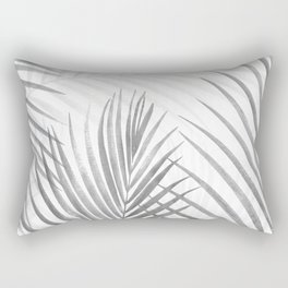 Black and White Tropical Palms Rectangular Pillow